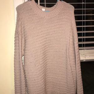 Oversized Light Pink H&M Sweater.